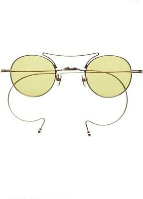 2e78acf9cce Thom Browne sunglasses TB-902 12K GOLD yellow gld unisex Flash mirror AR  round
