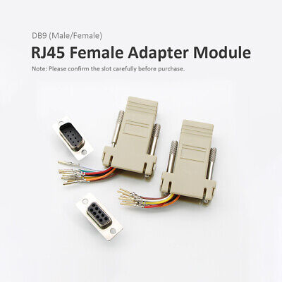 RS232 Serial DB9 Female to 8P8C RJ45 Female Modular Adapter Connector