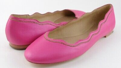 JUICY COUTURE JILL Pink Leather Designer Flats Comfort 9.0 M