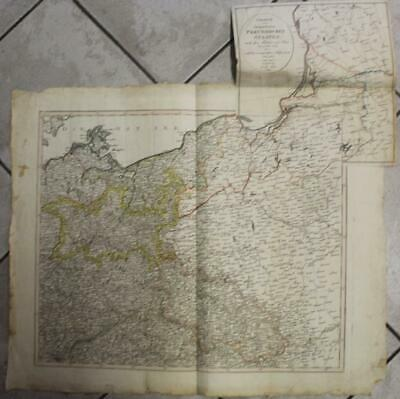 Poland Lithuania Germany After The Treaties Of Tilsit 1812 Walch Antique Map