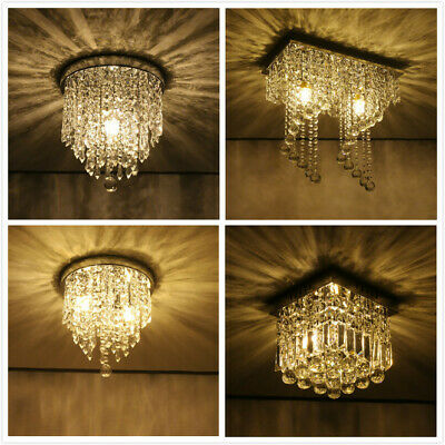 Modern Chandelier Crystal Ball Fixture Pendant Ceiling Lamp Hallway Light