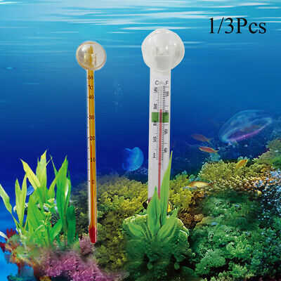 Portable Aquarium Fish Tank Glass Water Temperature Thermometer with Suction Cup