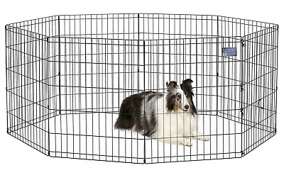 Pet Exercise Pen Playpen Cage Kennel Dog Rabbit Fence Train Puppy Crate Bed Yard