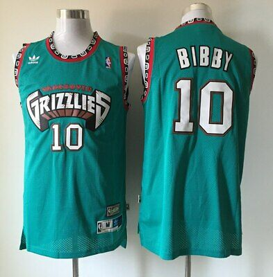 5757d76ba5f Hardwood Throwback Jersey MIKE BIBBY 10 Vancouver Grizzlies Teal Mens NWT