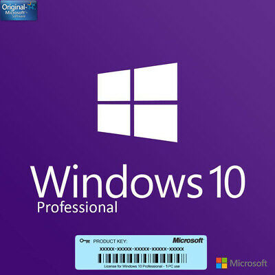 Microsoft Windows 10 Pro Professional 32/64 BITS LICENSE KEY 1 PC Download