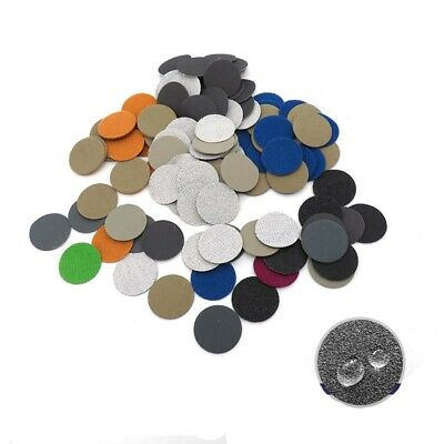 """1"""" Inch 25mm Wet and Dry Sandpaper Round Sanding Discs Hook and Loop P60-P10000"""