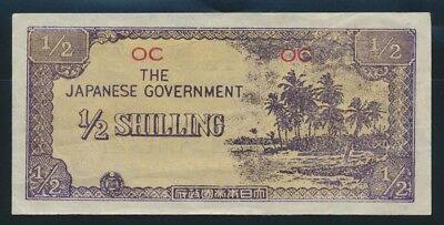 """Oceania: JAPANESE INVASION WWII: 1943 ½ Shilling VERY RARE """"REPLICA"""". Pick R1 EF"""