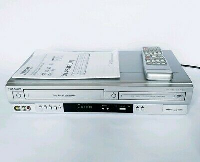 HITACHI DV-PF4E Player VHS VCR Video Recorder Player DVD Combo Combi Working