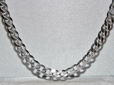 Solid Sterling Silver 28 inch Curb Chain 6mm Wide - 49.5 grams - Men's or Ladies