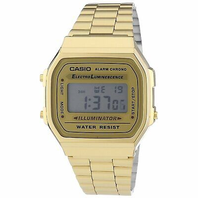 Casio Men's  'Vintage' Digital Illuminator Gold-Tone Stainless Steel Watch