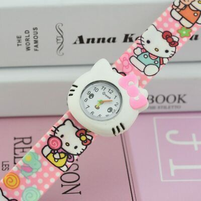 f6e1878b8 NEW FASHION Hello kitty Slap Watch for girls 3 colors High quality FREE  SHIPPING