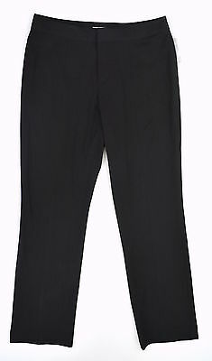 NWT NINE WEST Charcoal Gray LISA Career Dress Flat Front Pants STRETCH ~ Sz 14P