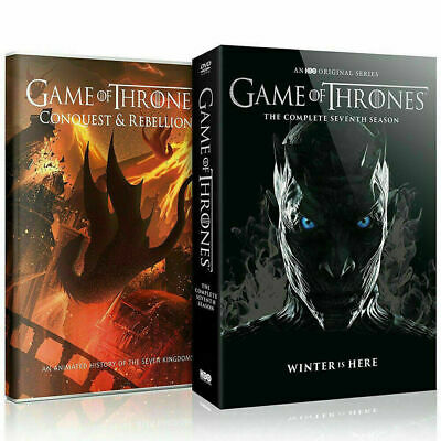 Game Of Thrones Season 7 Dvd Box Set With Conquest & Rebellion Dvd -Uk Free Post