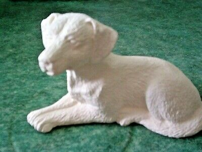 Lab Retriever Dog 5 inch animal READY TO PAINT CERAMIC BISQUE CRAFT
