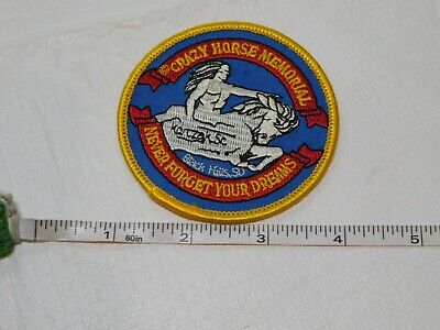 Crazy Horse Memorial Never Forget our Dreams patch Black Hills SD Native America