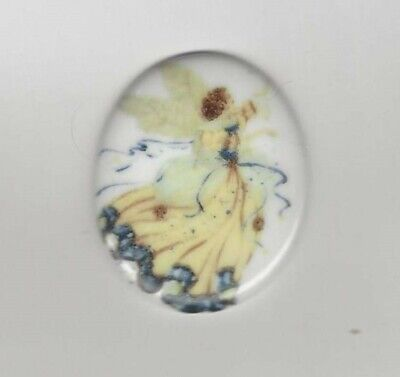 1 43mm Porcelain Cameo w// Wild Cat Collage
