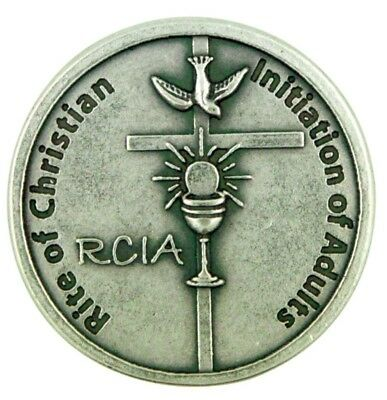 Rite of Christian Initiation of Adults RCIA Candidate Pocket Token Keepsake Coin