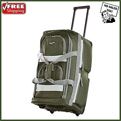 Luggage Travel Bag Wheels Set Wheeled Trolley Rolling Duffel Carry On Suitcase