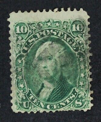 CKStamps: US Stamps Collection Scott#68 10c Washington Used CV$60