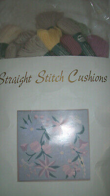 Twilleys Stamford Straight Stitch Cushion Front Tapestry Kit Floral Romany # 610