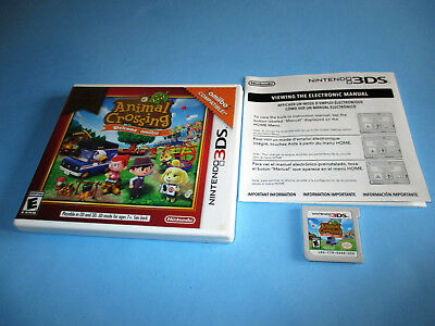 Animal Crossing New Leaf Welcome Amiibo Nintendo 3DS XL 2DS Game w/Case & Insert