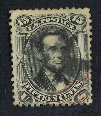 CKStamps: US Stamps Collection Scott#77 15c Lincoln Used Tiny Tear CV$180