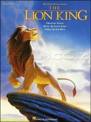 The Lion King Piano Vocal Soundtrack Sheet Music Book SAME DAY DISPATCH