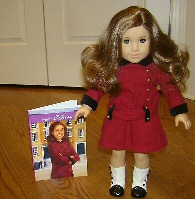 """American Girl Rebecca Doll And Meet Book  18"""" Historical Doll"""