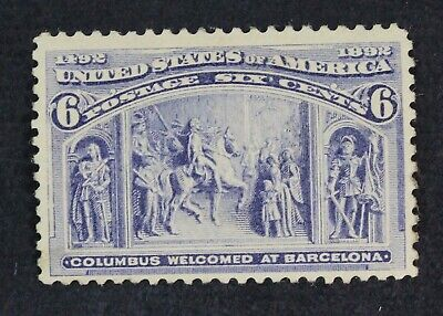 CKStamps: US Stamps Collection Scott#235 6c Columbian Unused Regum
