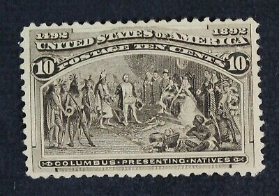 CKStamps:US Stamps Collection Scott#237 10c Columbian Mint H OG Appear Tiny Thin
