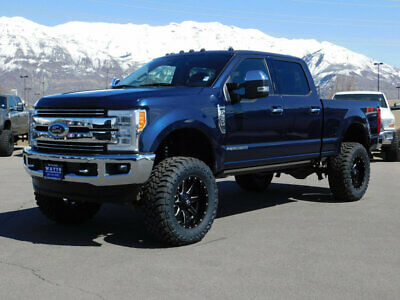 2017 Ford SUPER DUTY F-350 LARIAT FX4 LIFTED FORD CREW CAB LARIAT 4X4 POWERSTROKE DIESEL CUSTOM WHEELS TIRES LEATHER