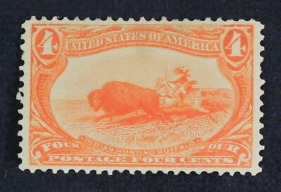 CKStamps: US Stamps Collection Scott#287 4c Mint HR OG Gum Disturb CV$110