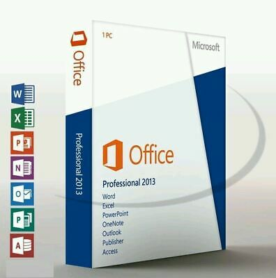 Microsoft Office 2013 Professional Plus 32/64Bit PC Product key Instant For 5 PC