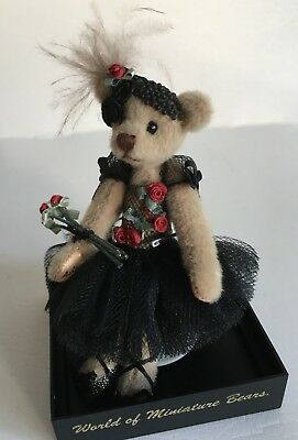 World Of Miniature Bears Rust Me To You Bear 1000 Ltd Edition In Case Cert Artist