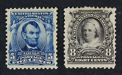 CKStamps: US Stamps Collection Scott#304 306 Mint HR OG, #304 Tiny Thin