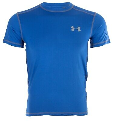 UNDER ARMOUR Mens Athletic T-Shirt SOLID ROYAL BLUE Semi Fitted Heat Gear $40