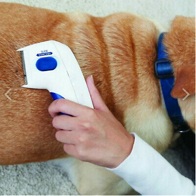 New Pet Electric Comb Cleaner Treatment Lice Supplies Tool Flea Hair Dogs Cats