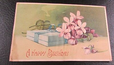 Old Greeting Postcard---<A HAPPY BIRTHDAY>---[1910]