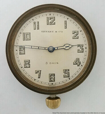 Antique Tiffany 8 Day Clock Strong Running Art Deco Vintage
