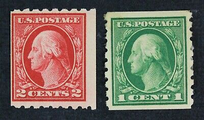 CKStamps: US Stamps Collection Scott#411 Unused NG, #412 Mint H OG