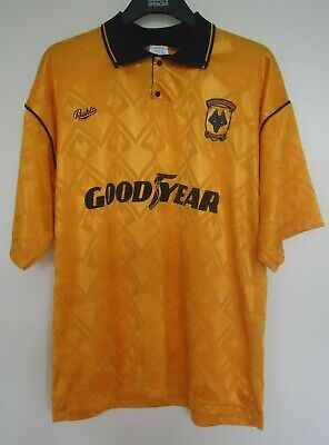 Wolverhampton Wanderers Vintage  Home Football Shirt By Bukta Seasons 1990/1992