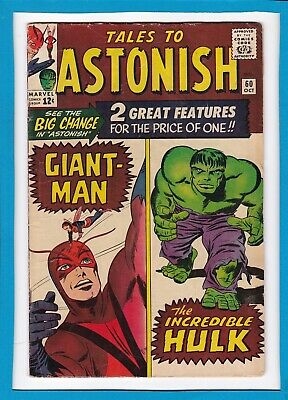 TALES TO ASTONISH #60_OCT 1964_VG_1st HULK IN TITLE_WASP_GIANT-MAN_SILVER AGE!