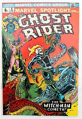 Marvel Spotlight 8 GHOST RIDER in a vfn+ 1972 Bronze Age Marvel Comic Mike Ploog