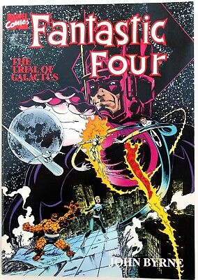 Fantastic Four - The Trial of Galactus a nrm- 1989 1st Print Marvel Graphic Nov
