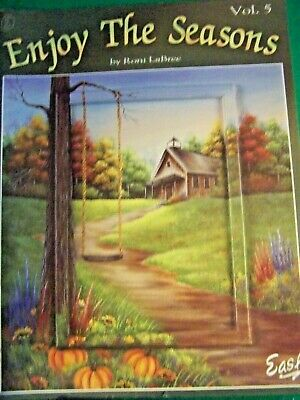 Enjoy The Seasons V5 By Roni Labree 2006 Acrylic Landscapes Tole Paint Book