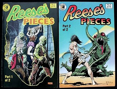 Reese's Pieces 1 & 2  lot of 2 vfn/nm 1985 Eclipse Horror Comics ft Ralph Reese
