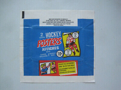 1973/74 O-Pee-Chee Wha Hockey Poster Empty Wax Pack Wrapper Sharp+ 73/74 Opc