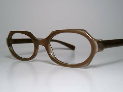 a3e731503577 NOS True Vintage CAT-EYE Sun  Eyeglasses Frame B L Brown 47-17 S-M