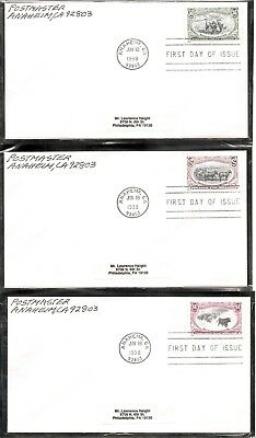 US SC # 3209a-i trans-Mississippi Stamps centenary 1898 FDC. No Cachet