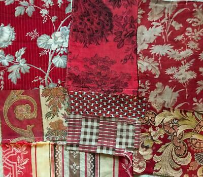 8 Beautiful Small Pieces Antique Vintage  French Linens Cottons 112.